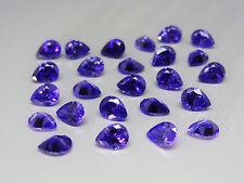 Purple 8x6mm Pear Shape Cut Loose Stones Cubic Zirconia Gemstones Lot