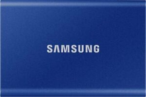 SAMSUNG T7 Portable SSD 1TB USB 3.2 External Solid State Drive 1050MB/s Blue