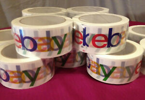 eBay Branded Shipping Tape~4 Rolls~NEW~75 Yards per Roll~Packing Packaging