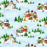 Winter Wishes Christmas Cotton  Windham Fabric Scenes  Light By the Yard  BFab