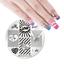 NICOLE DIARY Nail Art Stamping Plates Valentine's Day Stamp Template Romantic-03
