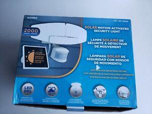 Sunforce LED Solar Adjustable Motion Activated Security Light  2000 Lumen