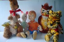 VTG GUND J.Swedlin DISNEY Winnie Pooh Friends OWL,ROBIN,PIGLET,TIGGER,KANGA ROO