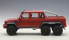 1:18 AutoArt MERCEDES-BENZ G63 AMG 6x6 mat ROUGE- Rouge