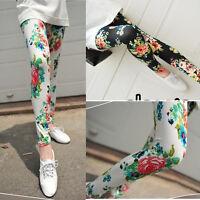 Fashion Girl's Leggings Women′s Sexy Pants Flower Stretchy Slim Pencil Pants
