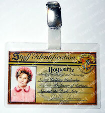 Dolores Umbridge ID Badge Harry Potter Hogwarts Cosplay Costume Prop Comic Con