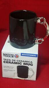 Matco Tools Automotive Mechanic Coffee Mug Cup Handle Black Wrenches Half Moon