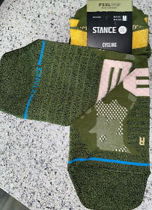 Stance Tab Cycling Socks, (Caught Up), Infiknit Feel 360, UNISEX, Olive, NWT