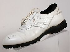 Asics JAPAN Golf Shoes OXFORD white leather MENS 25.0 EEEE US Size 8 1/2 wide