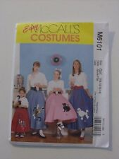 McCall's Costumes Pattern 6101 Girls Poodle Skirt - Pull-on Circular Skirt