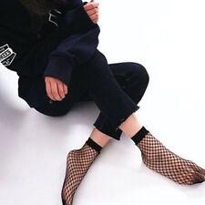 Women Fashion Ruffle Fishnet Ankle High Sock Lady Lace Mesh Fish Net Short Socks