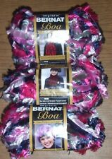 Bernat Boa Yarn, Lot of 3 Skeins, 3.5 oz, You Choose Color
