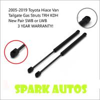 2005-2019 Toyota Hiace Van Tailgate Gas Struts TRH KDH New Pair SWB or LWB