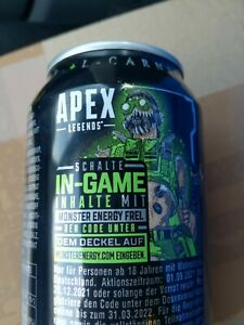 1 Promo Code von Monster dose APEX Legends In game tab code from can