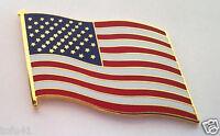 UNITED STATES AMERICAN FLAG   LARGE   Military Veteran USA Hat Pin 16266 HO LP