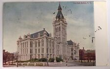 1908 Divided Back Postcard City Hall, Buffalo, Ny New York Postally Used