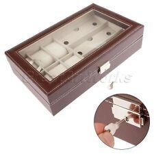 Sunglasses 3 Grids & Watches 6 Slots Box Organizer Display Case Holder Storage