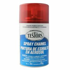Testors Transparent RED CANDY enamel Spray Paint Can  3 oz.  1605