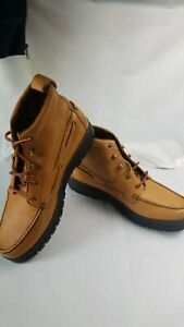 Justin 995 Chukka Grizzly Tan Moc Toe Lace Up Leather Boots Men's 11 (M)