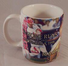 Mark McGwire Cardinals Mug Coffee Cup 62 Home Run History September 8 1998 White