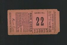 VINTAGE 1940s MLB BROOKLYN DODGERS BASEBALL TICKET STUB EBBETS FIELD - Game #22