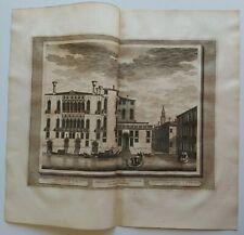 1722 Graevius Van der Aa Thesaurus Veduta Venezia Palazzo Pisani Moretta Gondole