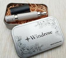 Windrose RA2 Al Safety razor Slant Matt black Made in UK.