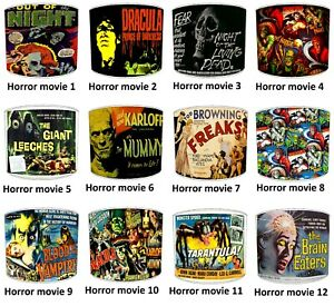 Classic Horror Films Vintage Movie Posters Lampshades Table Lamp Ceiling Lights
