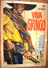 MANIFESTO ORIGINALE VIVA GRINGO 66 FERNANDO REY FRANCISCO RABAL WESTERN
