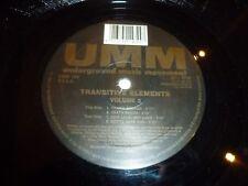 "UNDERGROUND MUSIC MOVEMENT - Transitive Elements - Italy 4-track 12"" Single"