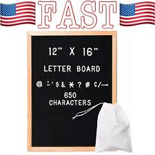 Felt Letter Board with 650 Letters, Numbers & Symbols - 16 x 12 Inch Changeable