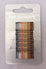 12PCS METAL TWIST 5CM HAIR PINS SLIDE WOMEN GIRLS CASUAL HAIR ACCESSORIES (VA21)