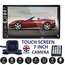 "7"" Double 2DIN Car Player Stereo FM Radio MP5 Bluetooth USB AUX + Rear Camera"