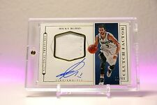 Ricky Rubio 2015-16 National Treasures Clutch Factor Patch On-Card Auto 11/49