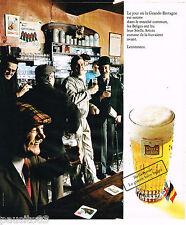 PUBLICITE ADVERTISING 065  1974  STELLA ARTOIS bière entrée de la GB au maché co