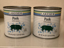 (2) Cans Of Lakeside Foods Pork w/ Juices * 24 Oz. 1lb 8 ozEach Can!