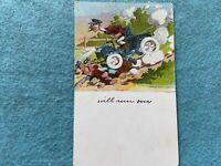 I will run over... Vintage 1910 Postcard