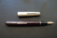 Waterman Lever Fountain Pen - Gold Ideal Nib - Sterling Silver - Vintage