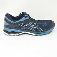 Asics Mens Gel Kayano 26 1011A541 Blue Black Running Shoes Lace Up Size 11.5