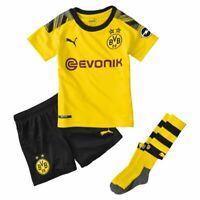 Puma Borussia Dortmund BVB Heim Mini Kit 2019 2020 Home Set Sponsor Logo Kinder