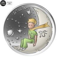 COFFRET FRANCE 10 EURO ARGENT colorisée BE 2021 PETIT PRINCE SUR LA LUNE @ RARE