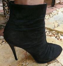 Zoe Witter 'Anastasia' Suede Stiletto Ankle Boots Heels Sz 39/8.5 RRP $209.95