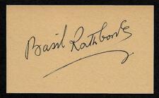 Basil Rathbone Autograph Reprint On Old 3x5 Card Sherlock Holmes Movies