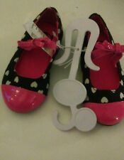 The Children's Place Black,Pink & White Hearts Flats Size10 Toddlers Nwt