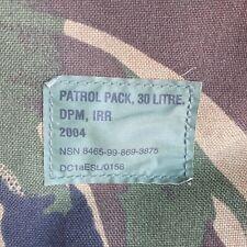 Patrol Pack, 30L, DPM IRR, British Army Rucksack