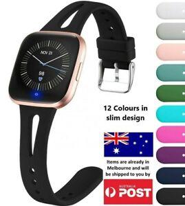 Slim Silicone Watch Band Strap Wrist Bracelet For Fitbit Versa/ Versa 2 / Lite