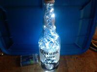 Corona Extra Handmade 24oz Lighted Beer Bottle - Corona Decor - Free Ship