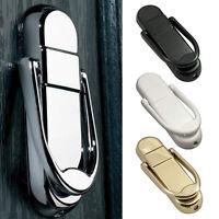 Door Knocker Chrome Polished Gold Front Metal White Black 118mm Length