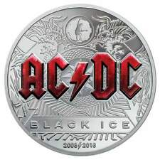 2018 Cook Islands $10 AC/DC BLACK ICE 2oz Silver Proof Coin