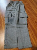 Circo Boy's Gray Elastic Waist Fleece Pants Size 4T dark knee
